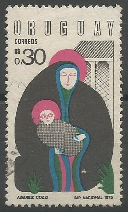 postage stamp designer: Saint Mary and Jesus (Christmas)