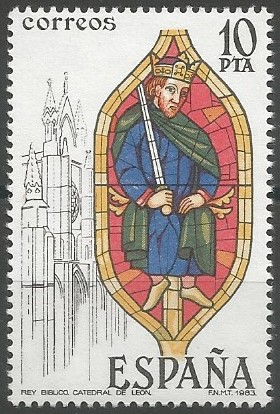 catedral de León (ventanal 31, claristorio de la nave central), 1201=1300