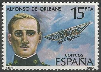 Alfonso de Orleans y Borbón; infante de España, aviador, general de división del ejército del aire