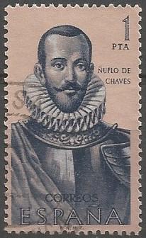 Nufrio de Chaves, capitán; teniente de gobernador de la provincia de Moxos, 1560-1564; gobernador de la provincia de Santa Cruz de la Sierra, 1564-1568