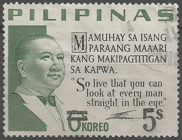 Elpidio Quirino; president of the Philippines, 1948-1953.