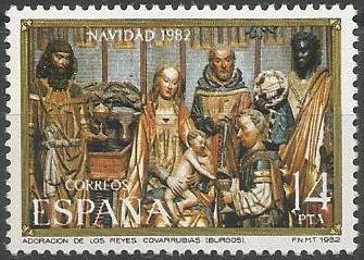 Iglesia de San Cosme y San Damián (Covarrubias): La parte central del tríptico de la epifanía representa la escena de la adoración de los magos, talla de madera dorada y policromada, esculpida alrededor de 1510 y ubicada originalmente en la capilla de Los Santos Reyes Magos, que pertenecía a los García de Covarrubias.