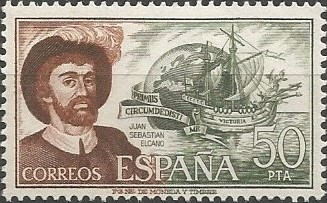 Juan Sebastián Elkano; capitán de la nao Victoria, 1521-1522.