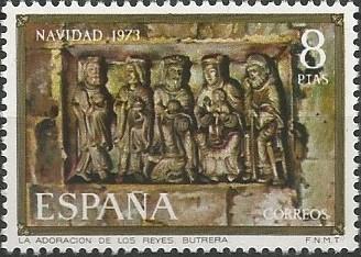 El frontal de altar de la Adoración de los Magos de la iglesia de Butrera, relieve rectangular actualmente inserto en el muro norte de la nave, representa un conjunto dinámico en el que predominan los rasgos naturalistas basados en el movimiento y el complejo tratamiento de los pliegues. (1101=1200)