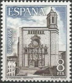 església de Santa Maria (catedral de Girona): façana principal, 1680-1733