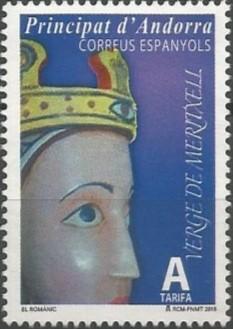 La talla romànica original datada entre els segles XI i XII, va conservar-se a l'esglèsia de Meritxell fins a la seva destrucció arran de l'incendi del 8 de setembre de 1972. Les reproduccions mantenen els seus trets característics, com les mans desproporcionades o els ulls exageradament grossos, inspirats en el Crist de les majestats romàniques. (1001=1200)