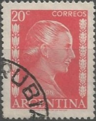 Eva Perón; stage, radio and film actress; first lady of Argentina, 1946-1952