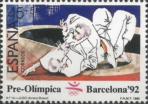 Eduardo Arranz Bravo; postage stamp designer: judo