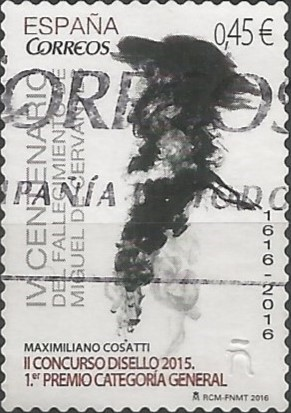 ganador del primer premio  en la categoría general del II concurso de diseño postal, Disello, en 2015