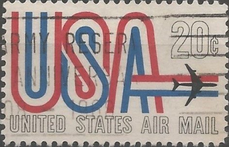 postage stamp designer: USA and jet