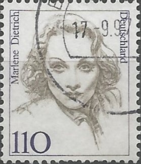 Marlene Dietrich; stage and film actress, singer