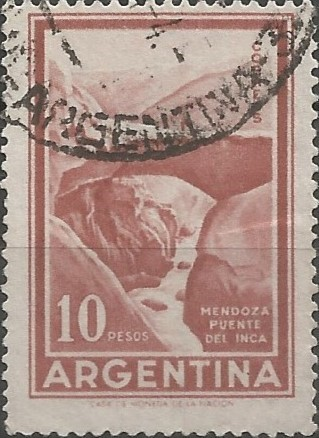 El monumento natural puente del Inca, en el departamento de Las Heras, declaróse zona intangible por el decreto 2291 de 1991, y área natural protegida por la ley provincial 7465 de 2005.