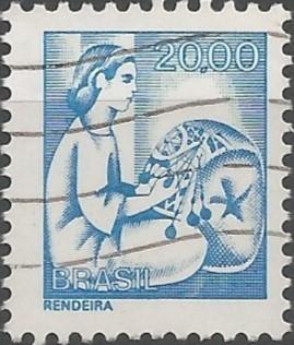 Martha Cavalcanti Poppe; desenhista de selos postais: série profissões: rendeira