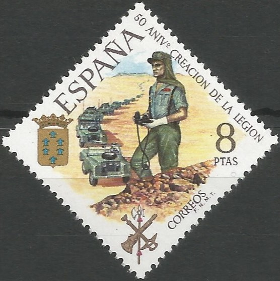 Duque de Parma, Plasencia y Castro, 1586-1592.  Desde su creación en 1950, el cuarto tercio de la legión aparece intitulado Alejandro Farnesio, en su recuerdo.