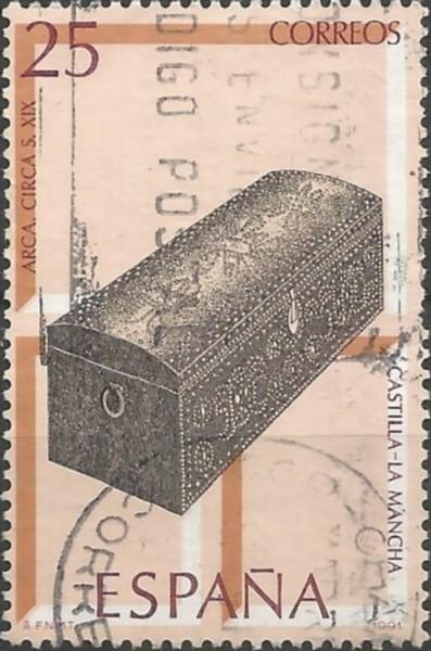 arca o baúl de viaje, procedente de Toledo, 1801=1900