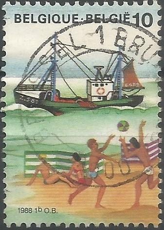 postzegelontwerper: De zee (vissersboot)