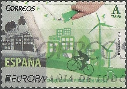 In order to celebrate the 60th anniversary of Europa stamps, Post Europe members decided that instead of a competition, 2016 will have a think green joint motif. The design which collected the most votes was the one from Cyprus Post.