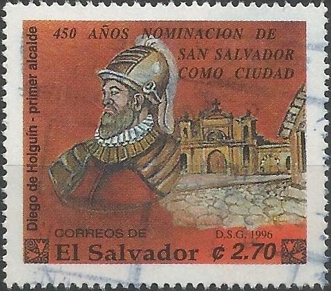 capitán Diego de Holguín; primer alcalde de San Salvador, 1525