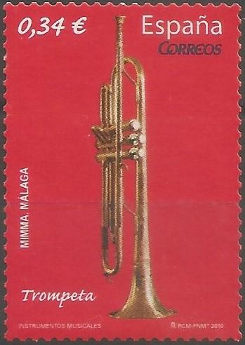Trompeta de pistones del siglo XX, perteneciente a la colección de instrumentos del Museo Interactivo de la Música de Málaga. Desde que fuera empleada por vez primera por el compositor Jacques François Fromental Halévy en su obra