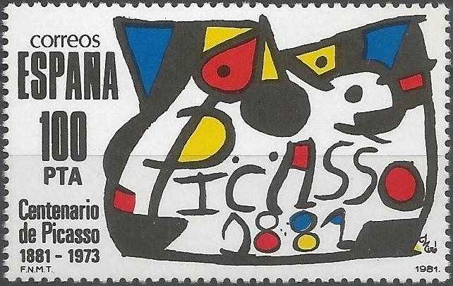 El ministerio de cultura, organizador de los actos con ocasión del centenario del nacimiento de Picasso, encargó a Miró el diseño de la insignia que había de identificar todas las exposiciones, impresos y demás manifestaciones programadas a tal efecto. Tras el acto de entrega del logotipo, declaró: