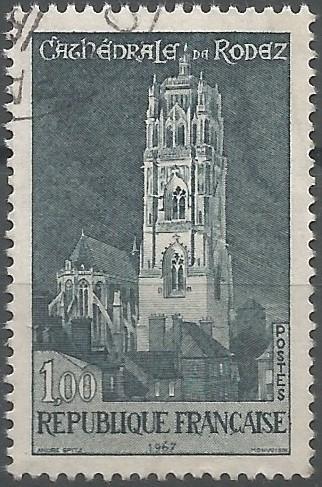 graveur de timbres-poste: cathédrale Notre-Dame de Rodez