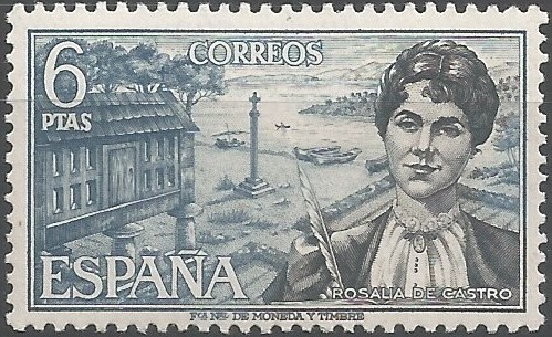 Rosalía de Castro, writer: poet, novelist