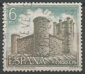 postage stamp engraver: castle of Torrelobatón