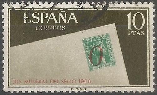 sello de la emisión de 1850, con signo de porteo de Alicante
