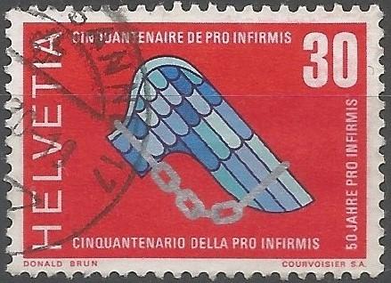 Briefmarkenkünstler: 50 Jahre Pro Infirmis: Pro Infirmis berät, begleitet und unterstützt schweizweit Menschen mit Behinderungen und ihre Angehörigen.