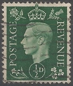 Eric Gill's design meets George VI's wish for a more decorative stamp and at the same time provides one which is modern in its artistic style. The Council for Art in Industry was informed on 1 March 1937 that a decision had been taken to use his design for the values intended for issue at the time of the coronation: ½d, 1d, 1½d and 2½d. (