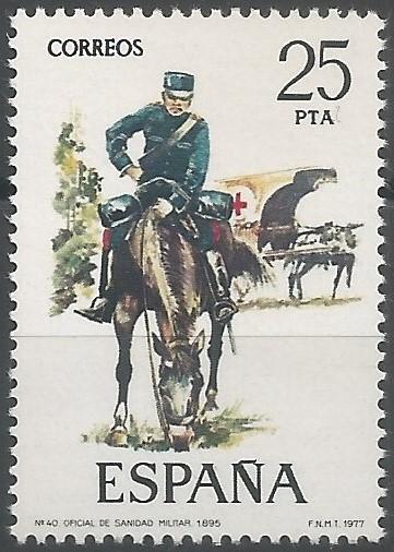 oficial de sanidad militar, 1895