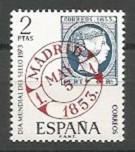 grabador de sellos postales, 1853
